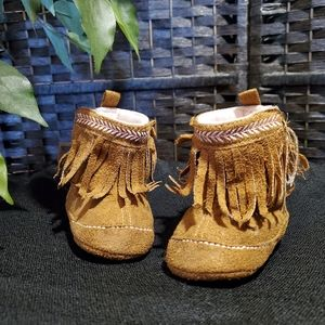 Baby moccasin george booties